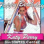 RT @STAPLESCenter: Happy Birthday to the Queen of the #KatyCats @katyperry http://t.co/OosseYqY4w