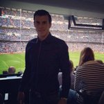 RT @ReyLaMadrid: Bale watching the game in El Bernabeu #ElClasico http://t.co/gsL95h5F8g