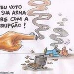 Voto é a arma mais poderosa de combate à corrupção.Faça sua parte!Apoie a decência. #Aecio45PeloBrasil.(@silva_marina http://t.co/T2A8ipqAwo