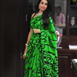 @actressanjjanaa looks refreshing in a saree for an event in Mysore http://t.co/ZAyQWFhAHi
