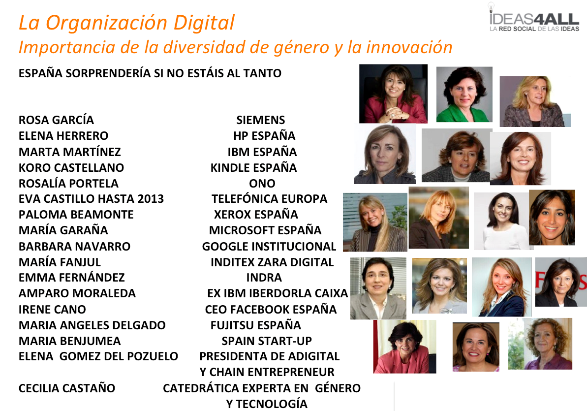 España,cada vez más #mujeres lideran compañías que contribuyen a la #innnovación/transformación digital y seguirán... http://t.co/BqzqbngR3E