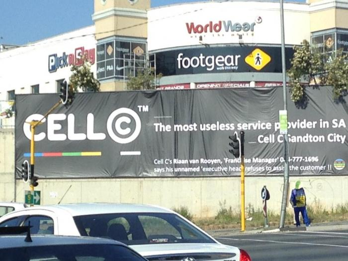Whoever erected #CELLC #Billboard has a lot of money - moral of the story to never upset a millionaire it's Santon. http://t.co/NxtVHMD29d