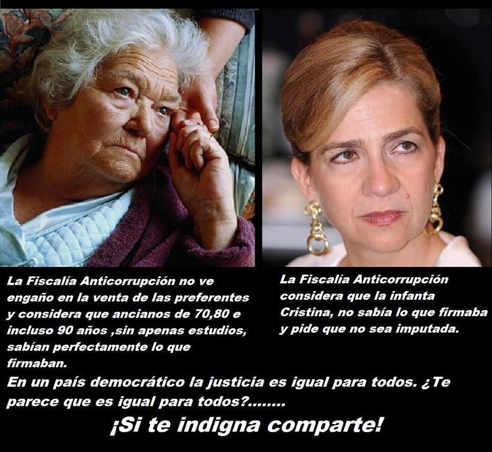 La infanta 'no sabía nada' de lo que firmaba, pero los jubilados debían conocer las preferentes. #MarcaEspaña http://t.co/GzOcAI4YNu