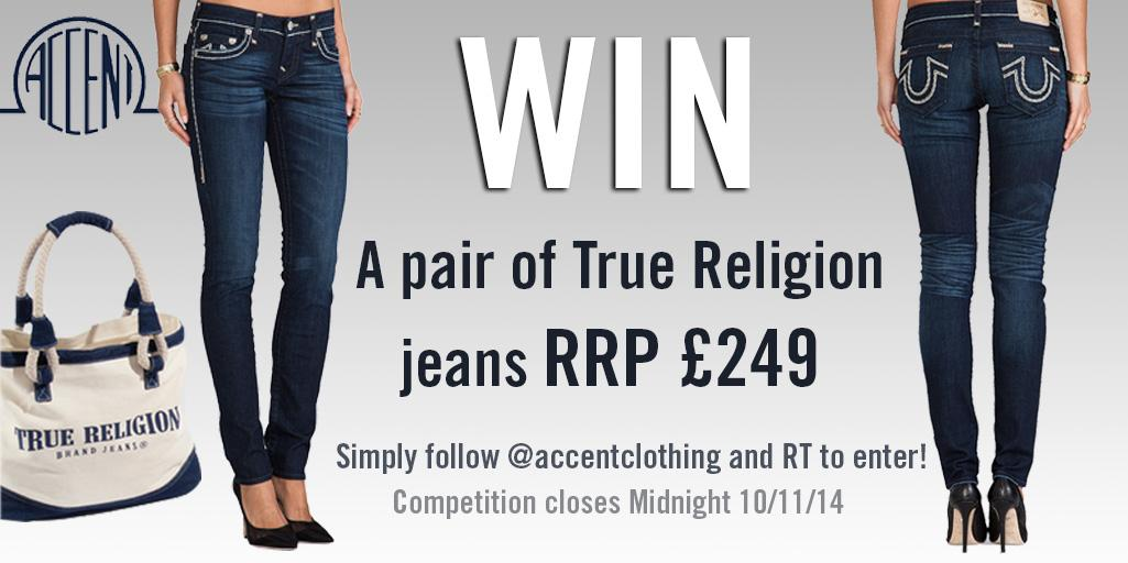 Competition time!!!! Simply RT and follow @AccentClothing for your chance to win these #truereligion jeans RRP £249 http://t.co/NGJEiF1NVC