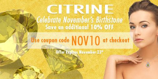 Celebrate November birthdays with this month's birthstone sale on all Citrine jewelry! http://t.co/IGlmHiKi3t http://t.co/z5bbRHSPbb