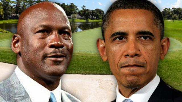 President Barack Obama teaches Michael Jordan a thing or two about trash talk