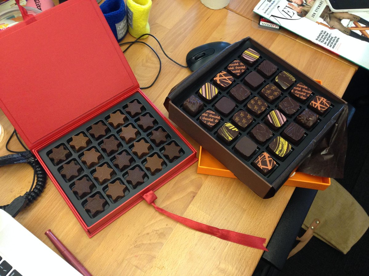 As always, @francoispayard makes our days with their treats. What's on the menu now? Oh just AMAZING chocolates http://t.co/M1wHPCdL05