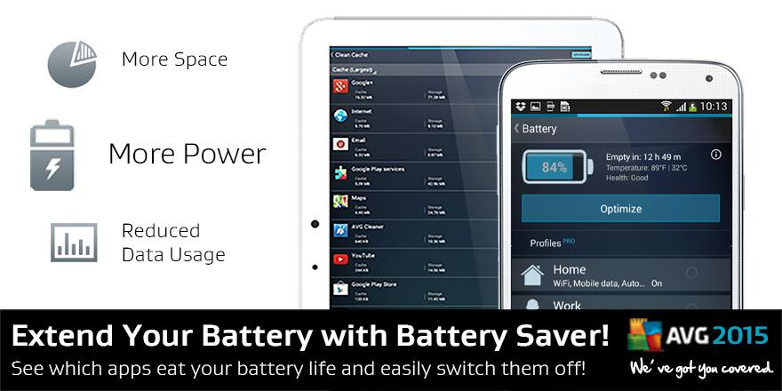 Extend your battery with battery optimization and battery profiles in AVG Performance 2015! http://t.co/Lrw2RF0PGf http://t.co/EkCXcQCe0L