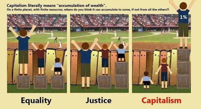 野球を観戦する親子から「平等」と「公正」を解説した例の図解は世界中で人気があるようで、こんなパロディまでつくられてる。 http://t.co/HqOmTjrVPM