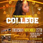 #ThanksgivingCollegeReunion 11•27•14 #HarlemNights ThanksGiving Night !! College I.Ds FREE all Night Long!! x http://t.co/gBVgEbxFJe