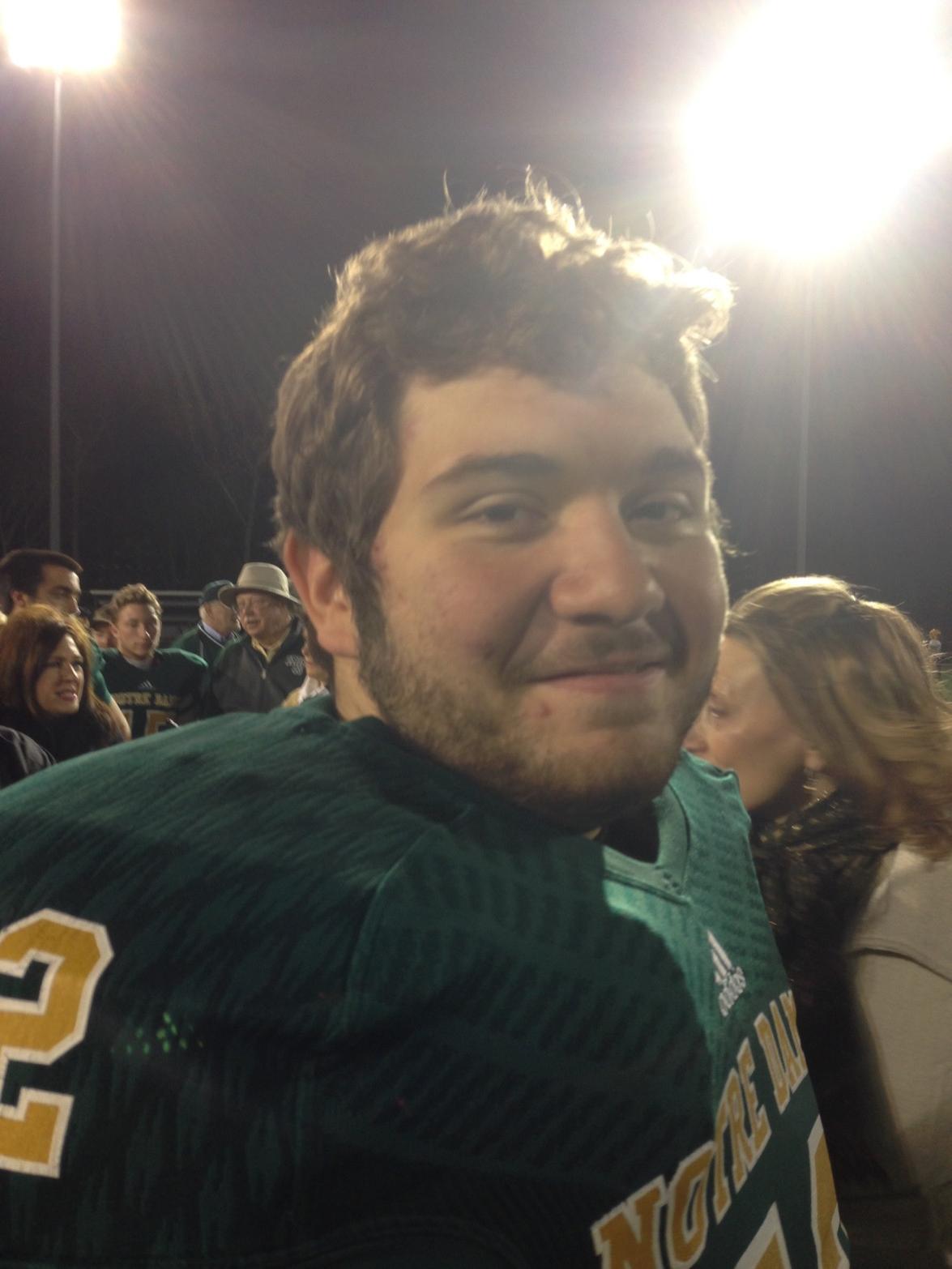 RT @mattcasey9: Is that Andrew Luck? RT @ProFootballTalk: Yeah Senior night. http://t.co/gwg1lb3MxF