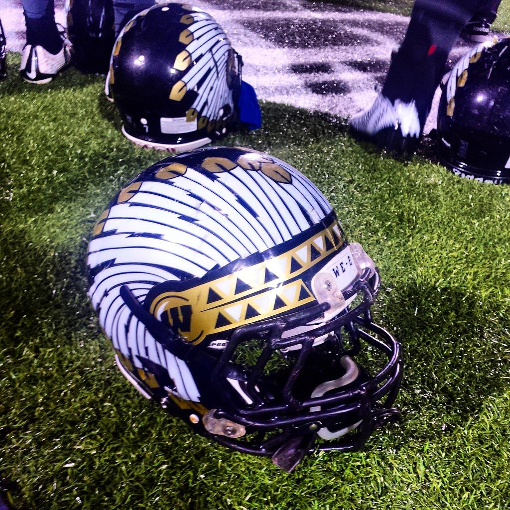 Hardest helmets I've ever seen. Oregon, who? http://t.co/n05T0KKZ43