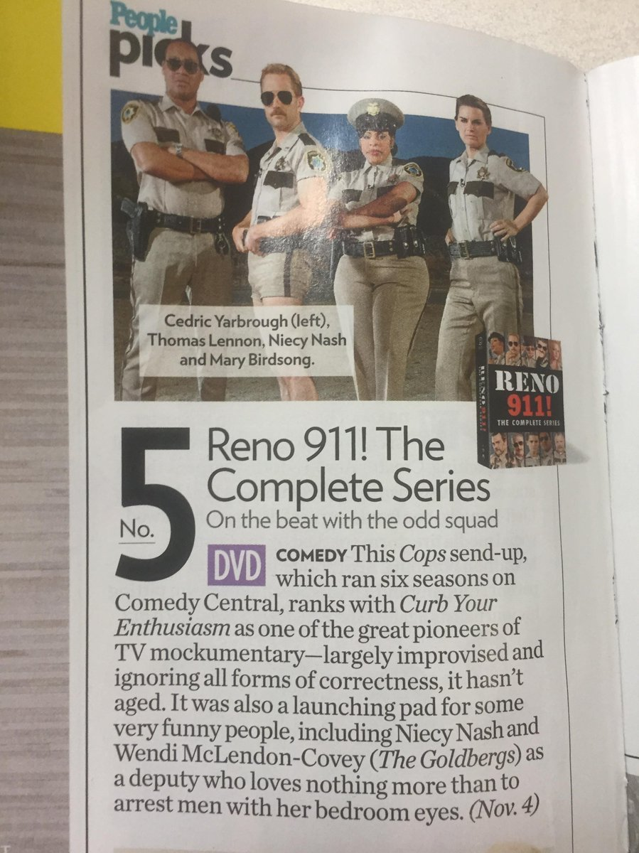 Yeah, @peoplemag giving love to #Reno911 The Complete Series! Cc: @thomaslennon @cedricyarbrough @NiecyNash http://t.co/gFQO0q3hoo