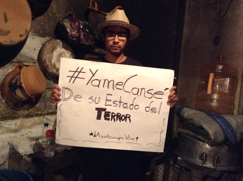 No podemos seguir permitiendo esto. #YaMeCanse de su Estado del Terror. #AccionGlobalporAyotzinapa http://t.co/e3H8GOzV4T