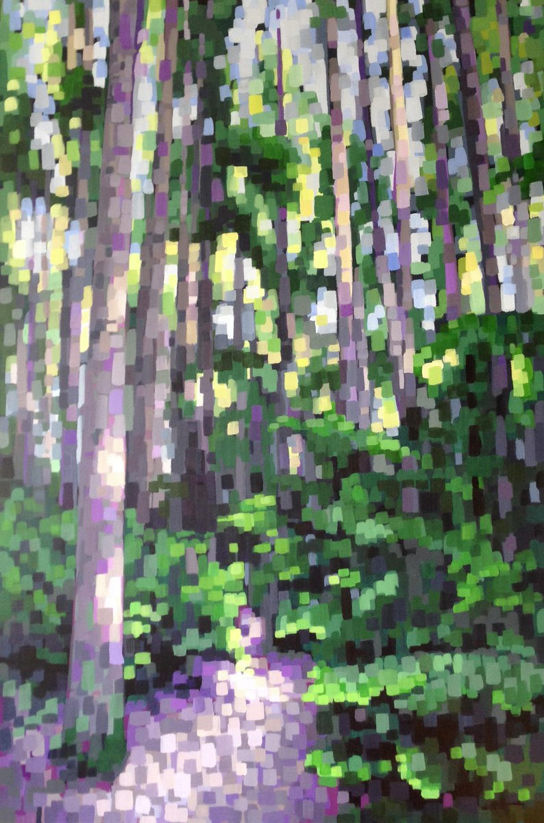 New #painting I finished today #forest #Vancouver #art http://t.co/5hs8Bpl2hm