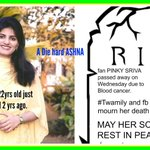 """Pinky will always be in my prayers......""""@vivawoike:Pinky Sriva her last question was any chance of ASHNA cmg back http://t.co/6W6qx6M6BF"""