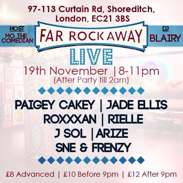 Event: @farrockawayE1 | @Paigey_Cakey @ROtripleX @jadaface101 @rielleUK @JSoLworld @WeAreArize @SNE____ @Frenzyuk http://t.co/GHY5SeAQDI