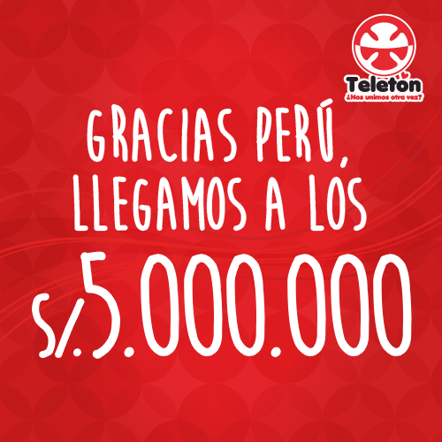 #TeletónPerú supera meta de S/. 5 millones a una hora de cierre de donaciones http://t.co/zmFqxv21QG http://t.co/jtW85Obtpw