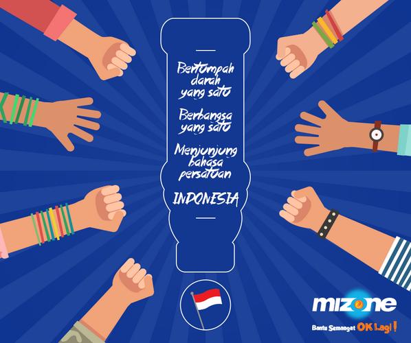 Selamat hari Sumpah Pemuda!  Ayo kita wujudkan pemuda Indonesia yang lebih sehat dan penuh semangat bersama Mizone! http://t.co/nJShXzRclS