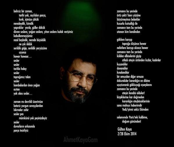 Ahmet Kaya (@AhmetKayaGam): Gülten Kaya: Selamımdır Paris'teki kalbime, doğum gününden! http://t.co/5yleiqaKRL   #AhmetKaya57yasında http://t.co/4Egagusizv