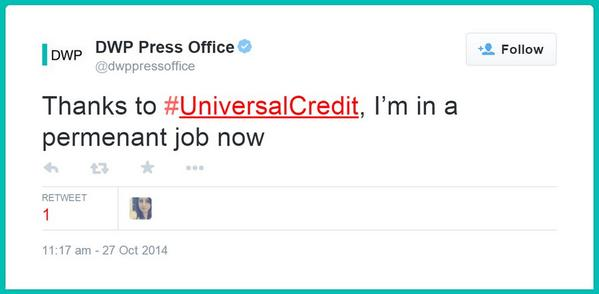 So, @dwppressoffice, is there a statement on the tweet you allegedly deleted? Or do we have to FOI it? http://t.co/qUIpaxZPhM