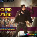 RT @TheShaukeens: Cupid is stupid! Do you agree?   The ultimate heartbreak song- #IshqKuttaHai coming out tomorrow! Be prepared! http://t.c…