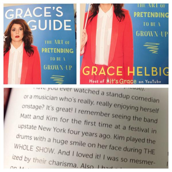 @mattandkim Cool shout out from @gracehelbig about you two in her new book! #GracesGuide http://t.co/p2yu0mnMvJ