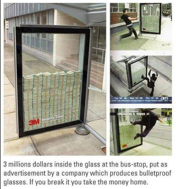 3 million dollars at the bus stop! http://t.co/UA4hMNklcl