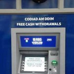 RT @elinjjones: This Tesco ATM in Aberystwyth has been mis-translated into Welsh... it's offering a