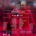 Line-ups SV Urk - Ajax. #urkaja http://t.co/Y5N2htreB3