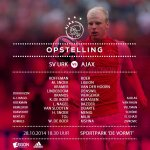 Line-ups SV Urk - Ajax. #urkaja