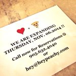 Dont forget to call or email for reservations! #BurlON #HeyPeachy #loveandpizza http://t.co/Bltlp8hH4X