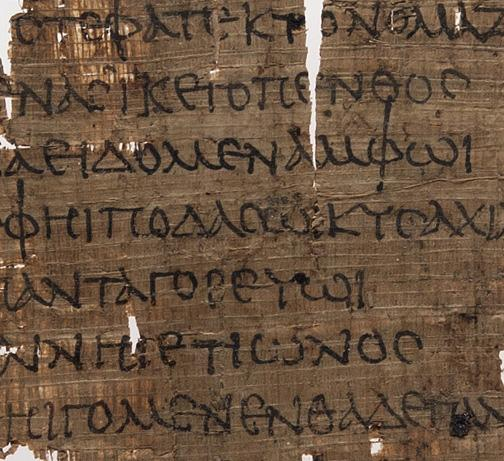 Homer is represented in the Yale Papyrus Collection: Here's a fragment from Book One of the Iliad. http://t.co/z5cvuniKr2