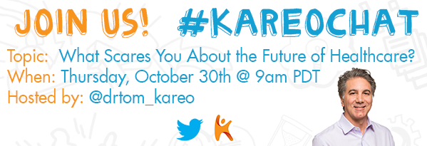 The upcoming Halloween holiday calls for a terrifyingly good #KareoChat! @ManagementRx @Turbodean @Resultant @Madisys http://t.co/TQuCdSTvzm