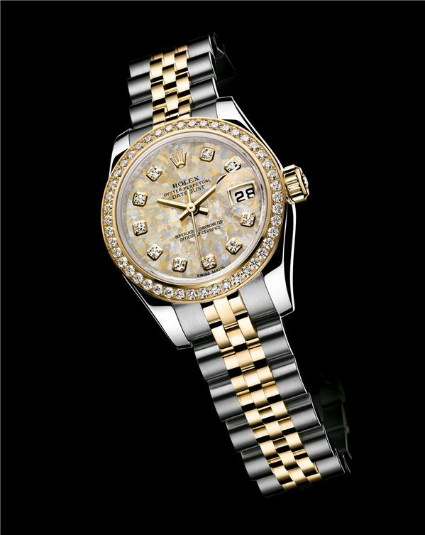 Rolex Lady-Datejust steel-yellow gold with diamonds, jubilee bracelet and gold crystals dial http://t.co/5Fng79imFS