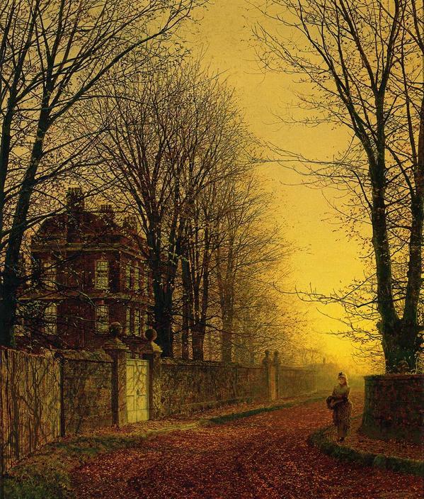Autumn Gold - John Atkinson Grimshaw (Leeds, 1836 - 1893) #art http://t.co/JhGONuHwt9