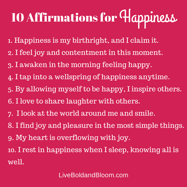 10  Positive Affirmations for #happiness. Please share them . . . http://t.co/4aITmAZnSv
