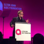 A very classy night at the gala for the Elton John AIDS Foundation ( @ejaforg). A truly important organization.