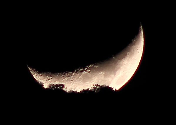 La puesta de la luna hoy desde quer taro m xico for Hoy es cuarto creciente