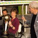 Aha, look who's got his hands on the World Cup... @MickJagger