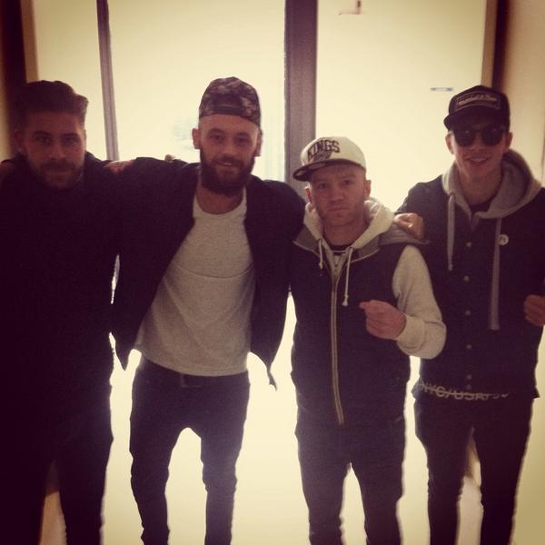 The #OriginalRudeBoys in the grimey halls of RTE this morning! @NeddyArkins @RobBurchORBS @WalshyORBs #neveralone http://t.co/G9pW5jd4p2