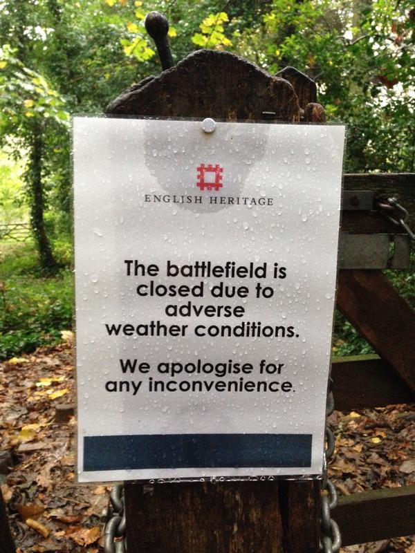 So many wars could have been averted.  Battle of Hasting cancelled due to health & safety concerns. h/t tom holland http://t.co/eq4ryXN29R