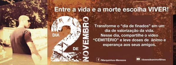 Paz,queridos! Compartilhe o link e transforme o dia de finados em dia de valorização da vida. http://t.co/lOXf9RXfVn http://t.co/fbUrBk7bvK