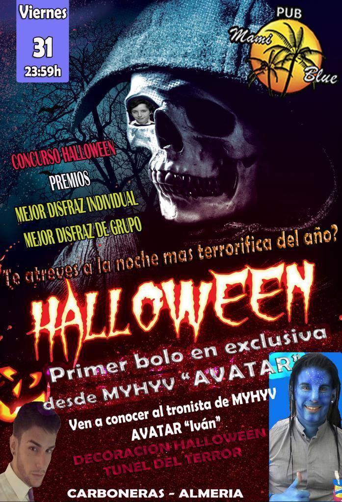 Viernes 31 Avatar el tronista de myhyv en exclusiva Concurso de disfrazes Tunel del terror Camarer@s halloween http://t.co/DXfIdbpa4b