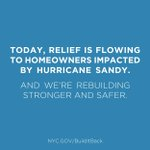 RT @NYCMayorsOffice: Today is the second anniversary of Hurricane #Sandy and things are finally looking up. http://t.co/WhkCqkzL42