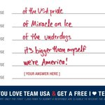 I love #TeamUSA because ________________!   Tell us why here: http://t.co/9iLZhYvU6V