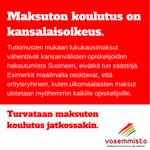 RT @vasemmisto: Lukukausimaksut eivät tuo säästöjä, vaan epätasa-arvoa. #lukukausimaksut #opiskelu #vasemmisto #koulutus http://t.co/yaBdxgBYaV