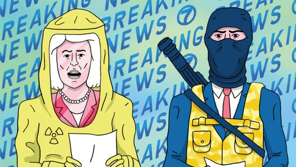 News outlets take ebola, terrorism panic viral