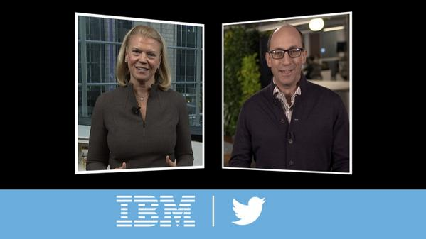 IBM's Ginni Rometty & @dickc announce landmark alliance between @ibm and @twitter #ibminsight #IBMandTwitter http://t.co/1k3q8HJDVT