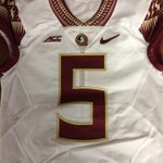 First look at @FSU_Football new away jerseys, with garnet numbers and gold trim. Will debut tomorrow. http://t.co/S3SkG7HPJh